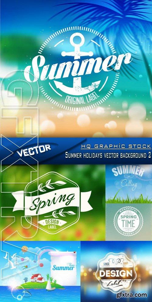 Stock Vector - Summer holidays vector background 2