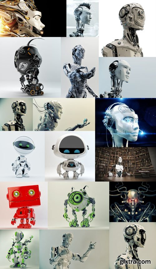Robots and Cyborgs Collection, 25xUHQ JPEG