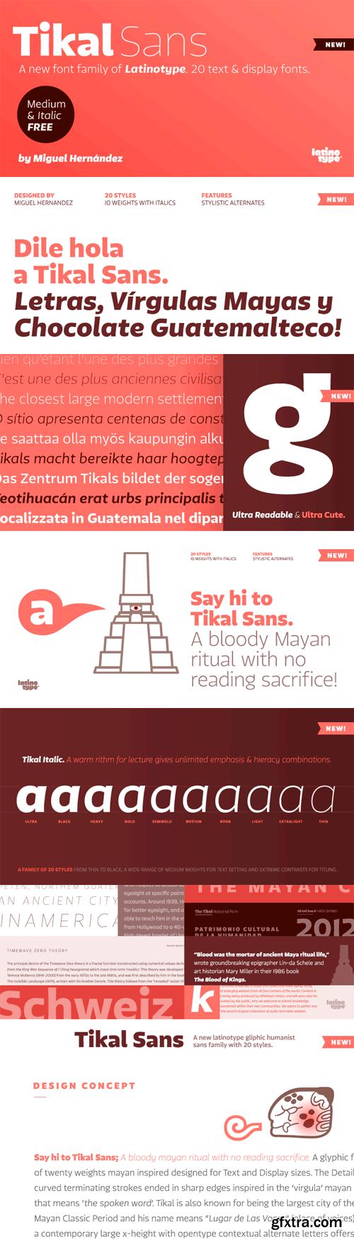 Tikal Sans Font Family - 20 Fonts for $329