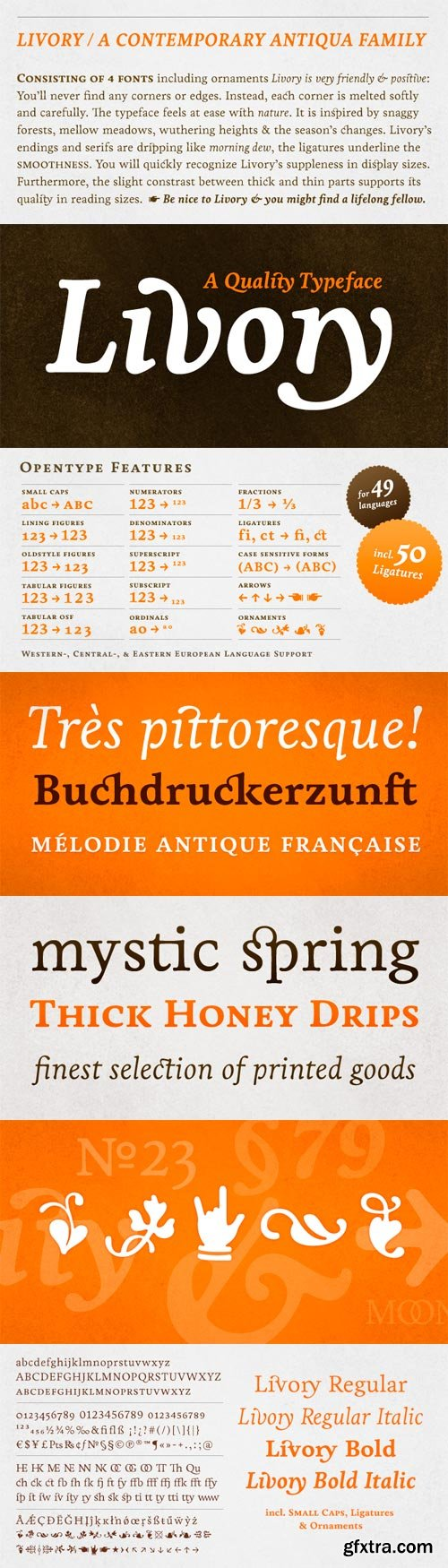 Livory Font Family - 4 Fonts for $129