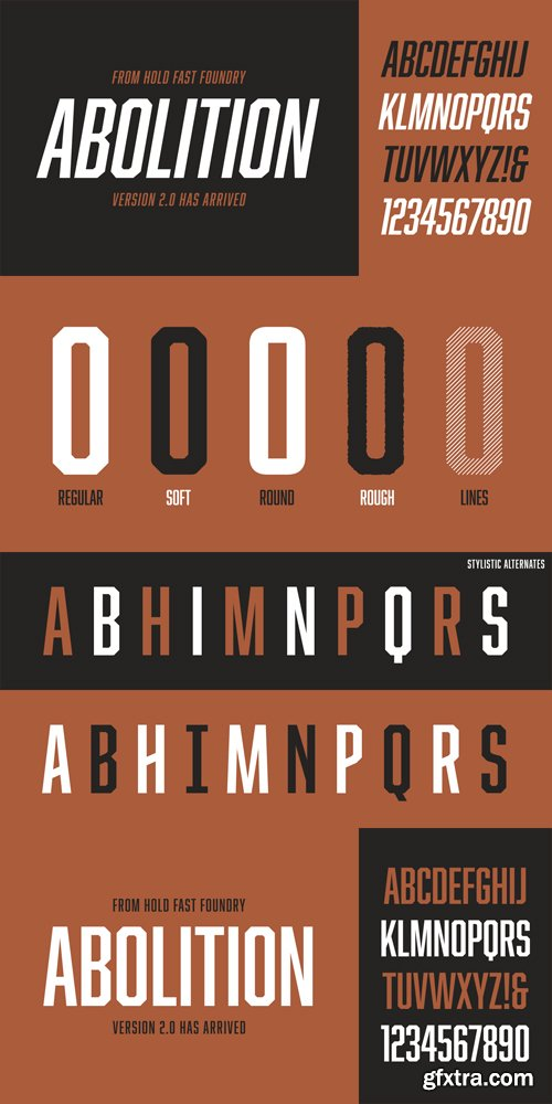 Abolition Font Family - 10 Fonts for $29