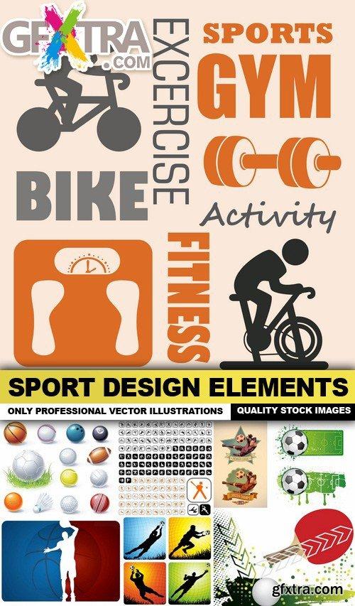 Sport Design Elements - 25 Vector
