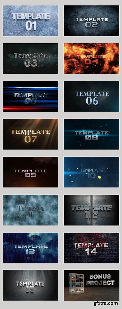 Videohive Trailer Pack - Action Series 5484420 (16 Template Bundle)