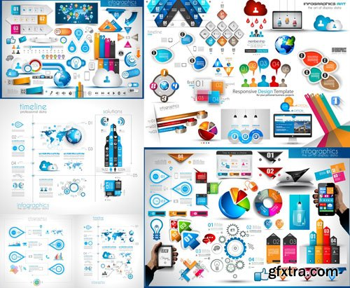 Collection of infographics vol.100, 25xEPS