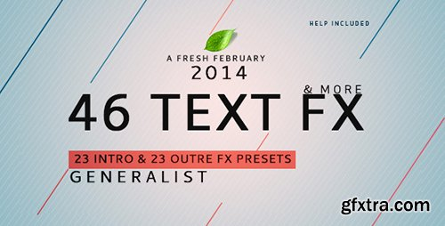Videohive Text Fx Generalist ! 6736769 (46 Text Animation)
