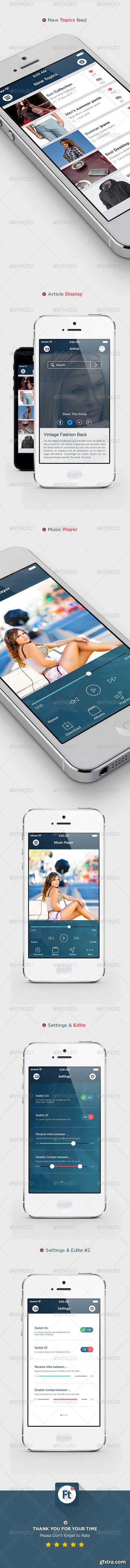 GraphicRiver Flat Modern Transparent App Ui kit 7375722