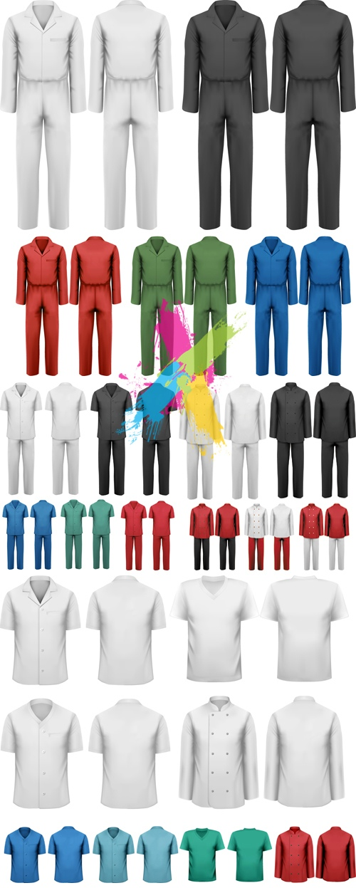 Various Realistic Clothes Vector