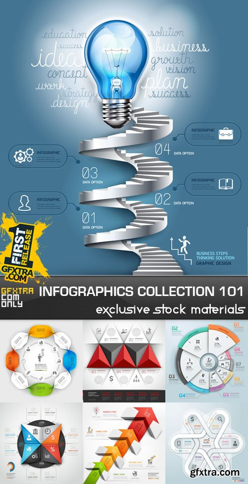Collection of infographics vol.101, 25xEPS