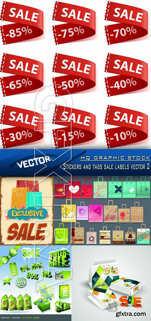 Stock Vector - Stickers and tags sale labels vector 2
