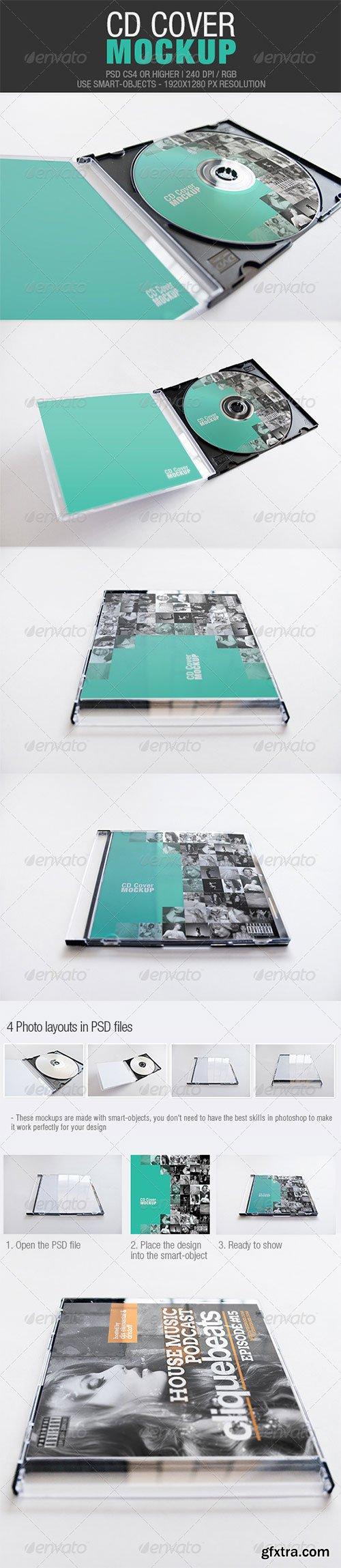 GraphicRiver - CD Cover Mockup 4244724