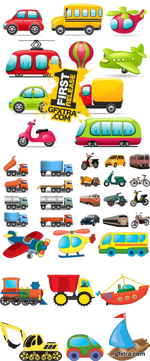 Stock: Set of transport icons