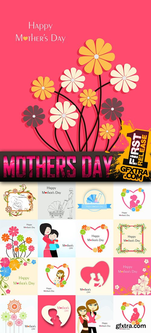 Mothers Day Vector Pack 1