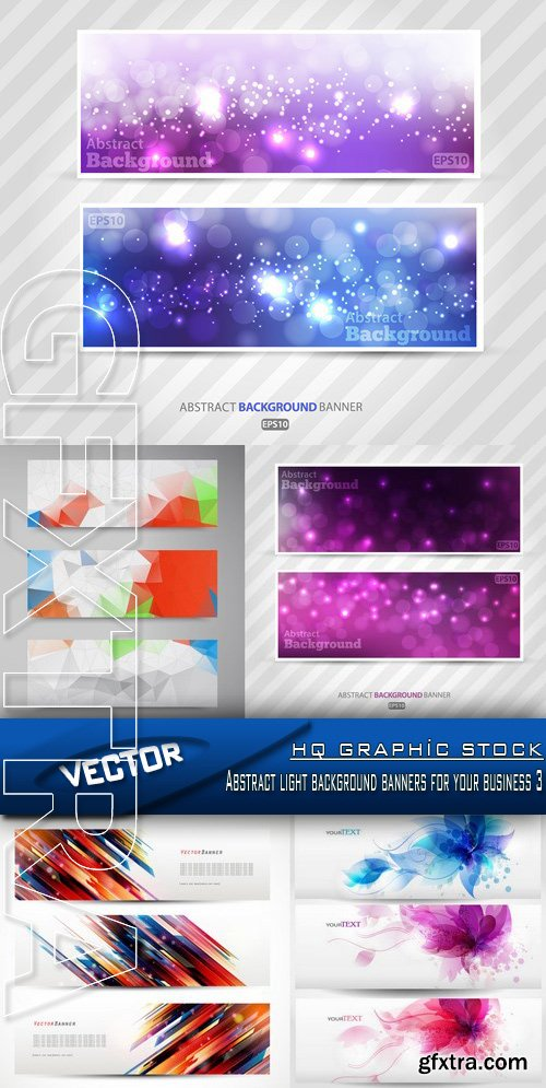 Stock Vector - Abstract light background banners for your business 3