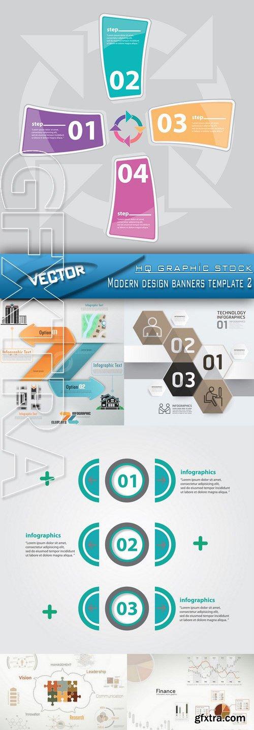 Stock Vector - Modern design banners template 2