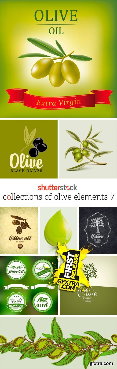 Amazing SS - Collections of Olive Elements 7, 25xEPS
