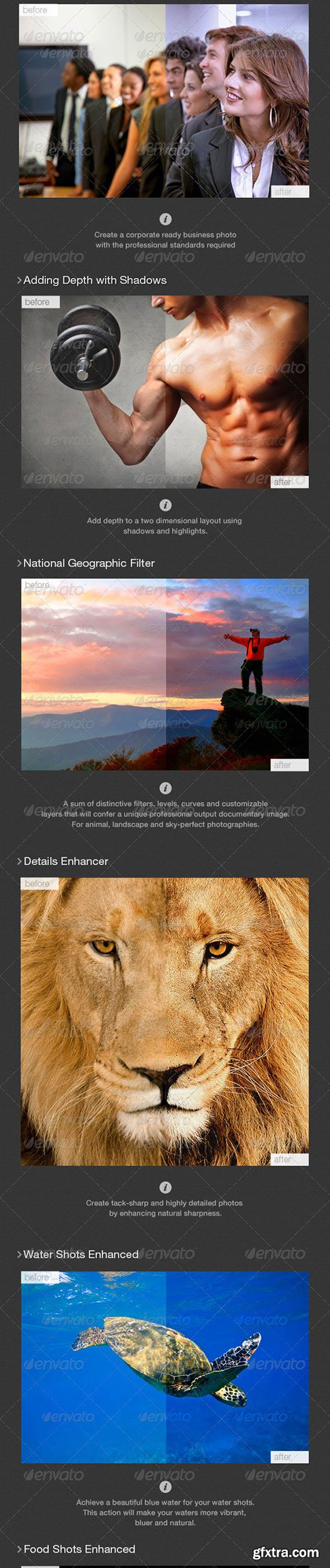 GraphicRiver - 14 Selected Actions Set 5389813