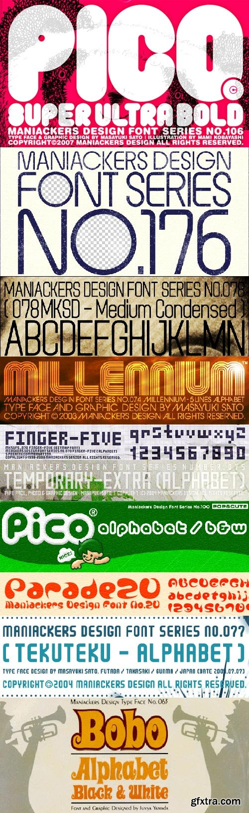 Maniackers Design Fonts Collection 107xTTF