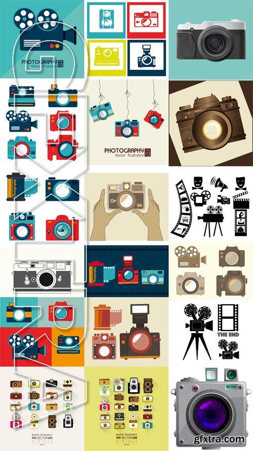 Stock Vectors - Camera 2, 25xEps