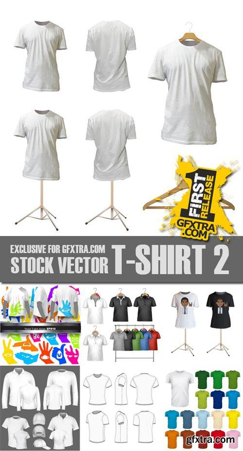Stock Vectors - T-Shirt 2, 25xEps