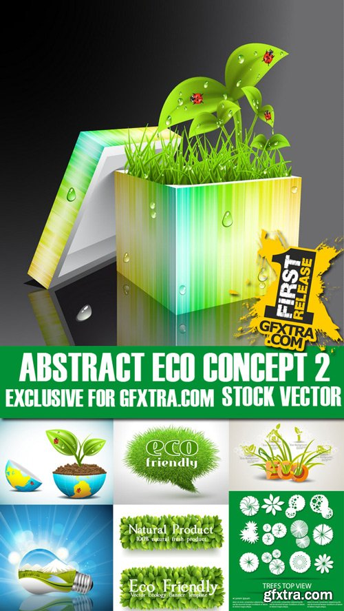 Stock Vectors - Abstract Eco Concept 2, 25xEps