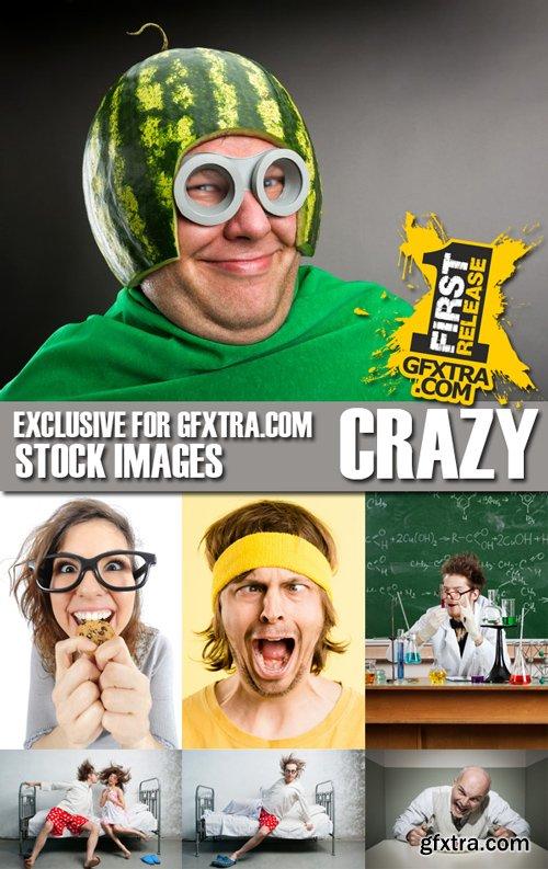 Stock Photos - Crazy People, 25xJPG