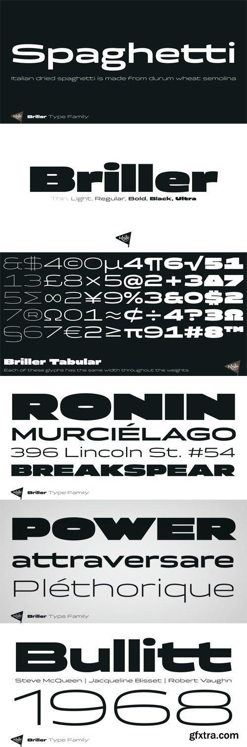 Briller Font Family - 6 Fonts for $42