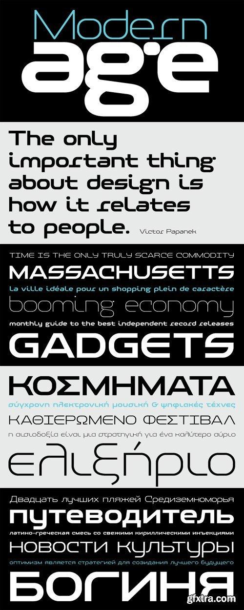PF Baseline Pro Font Family - 6 Fonts for $345