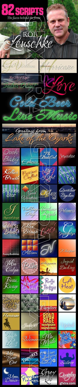 Rob Leuschke's 82 Script Fonts!