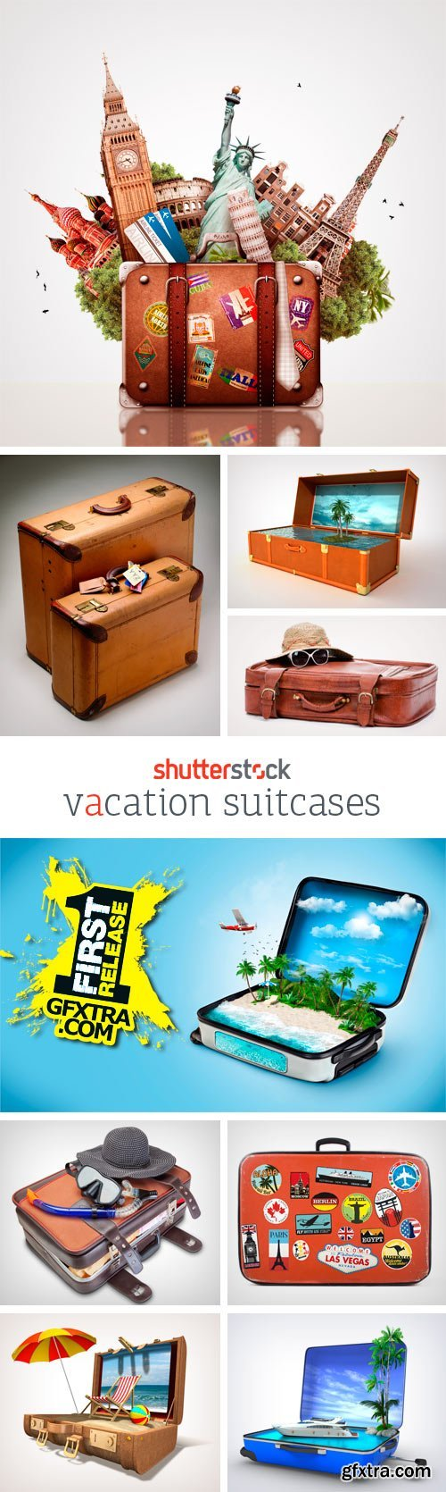 Amazing SS - Vacation Suitcases, 25xJPGs