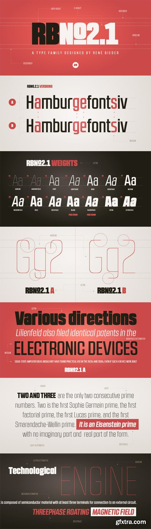 RBNo2.1 Font Family - 28 Fonts for $300