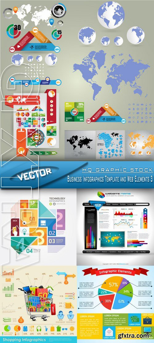 Stock Vector - Business Infographics Template and Web Elements 3
