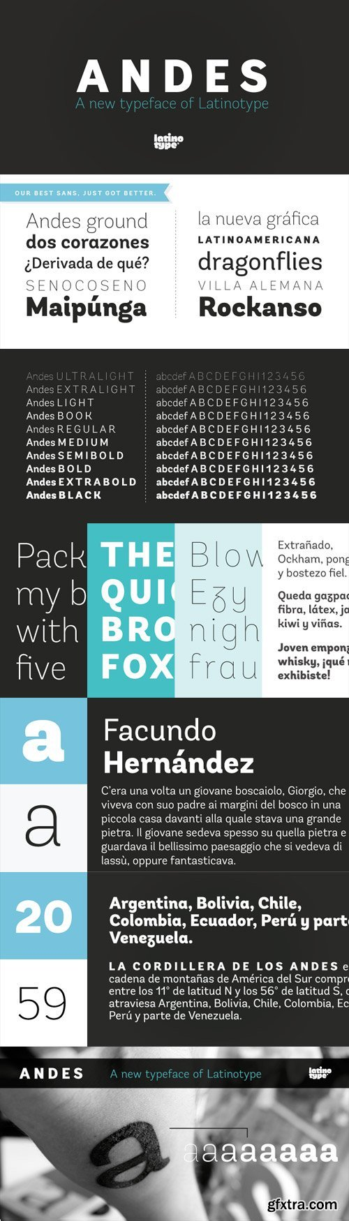 Andes Font Family - 8 Fonts for $189
