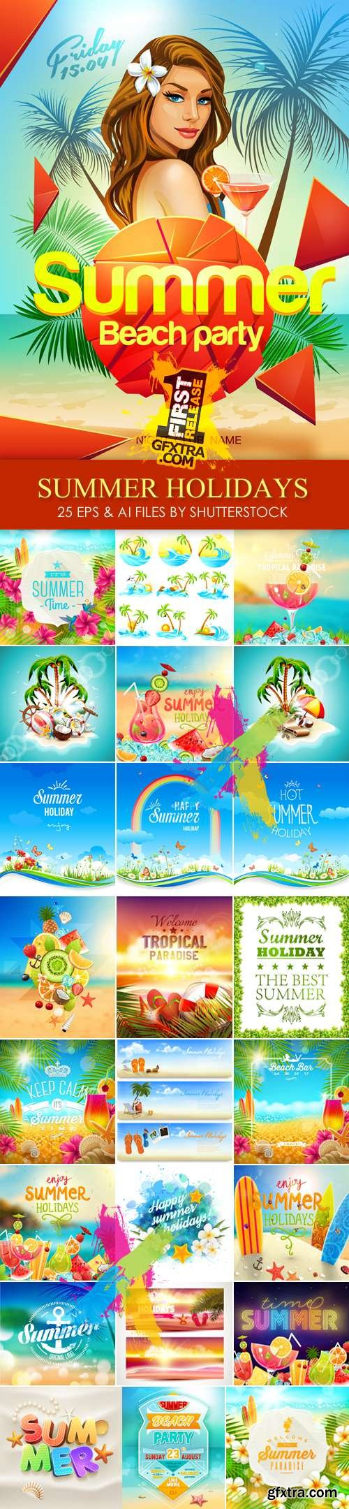 Stock Vector - Summer Tropical Holidays