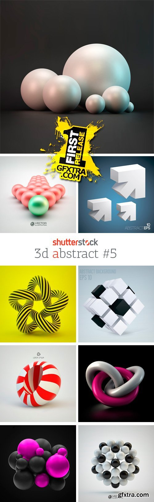 Amazing SS - 3D Abstract 5, 25xEPS