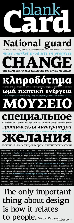 PF Centro Serif Pro Font Family - 8 Fonts for $425