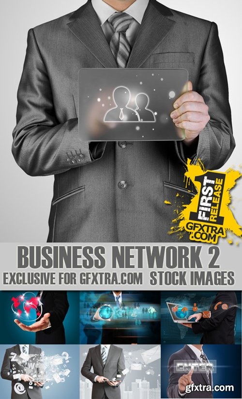 Stock Photos - Business Network 2, 25xJpg