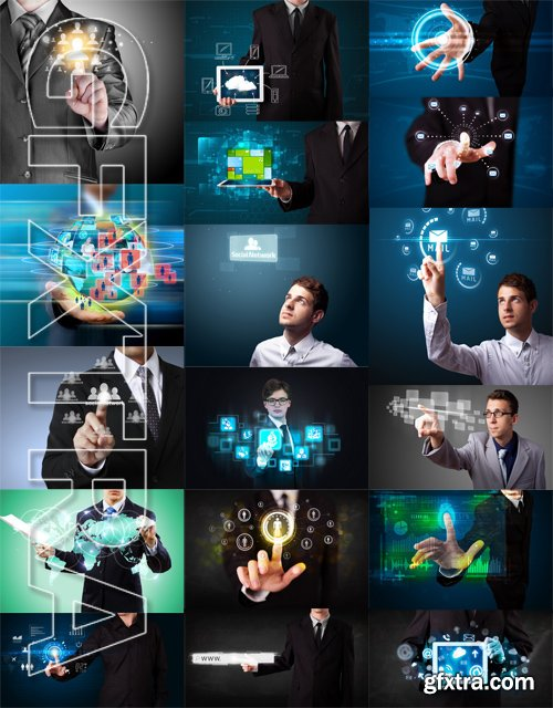 Stock Photos - Business Network 2, 25xJpg