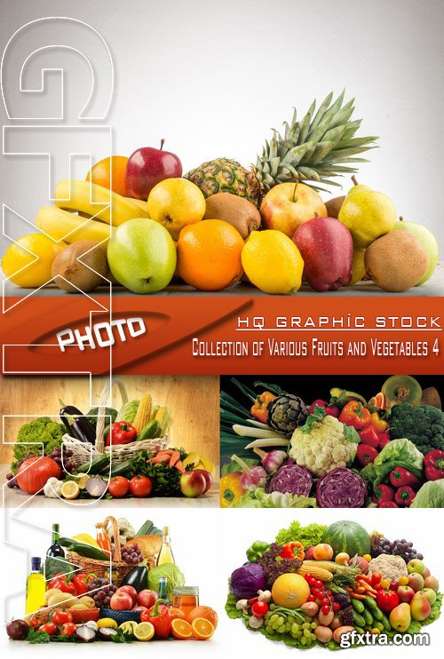 Stock Photo - Collection of Various Fruits and Vegetables 4