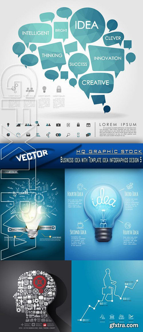 Stock Vector - Business idea with Template idea infographics design 5