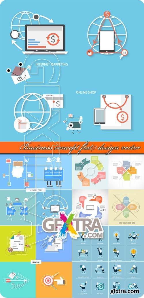 Business concept flat design vector