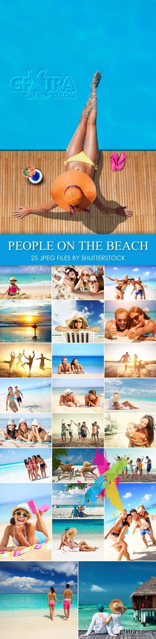 Stock Photo - People on the Beach