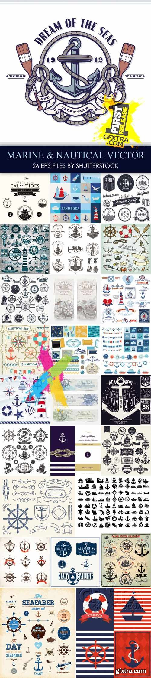 Stock Vector - Marine & Nautical Elements