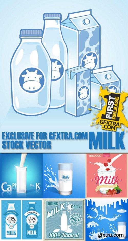 Stock Vectors - Milk, 25xEps
