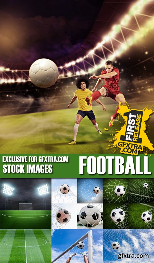 Stock Photos - Football, Soccer, 25xJPG