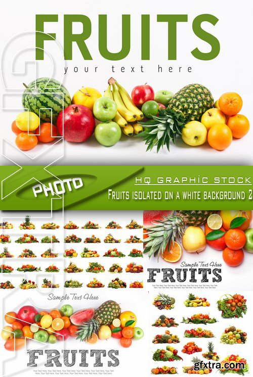 Stock Photo - Fruits isolated on a white background 2