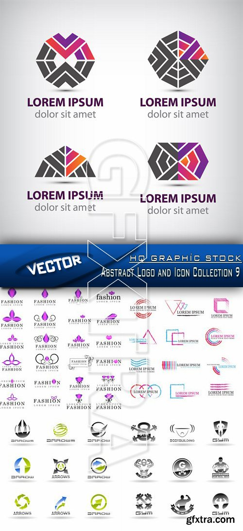 Stock Vector - Abstract Logo and Icon Collection 9