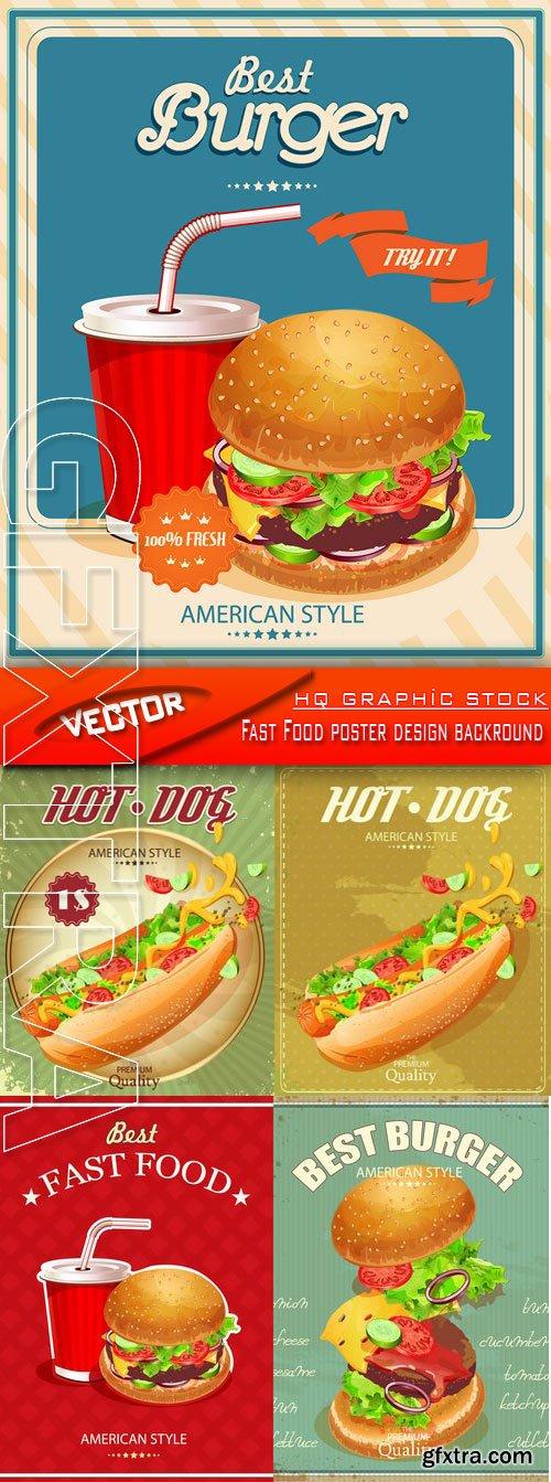 Stock Vector - Fast Food poster design backround