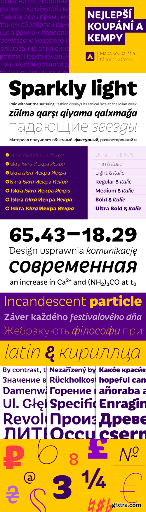 Iskra Font Family - 14 Fonts (Incomplete Family) for $630