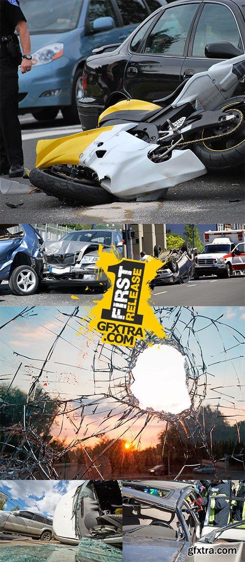 Stock Photo: Two cars crashed