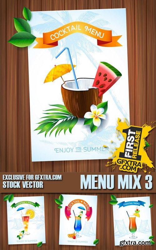 Stock Vectors - Menu Mix 3, 25xEps